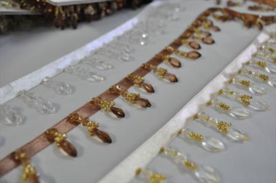 Бахрома-стеклярус декоративная